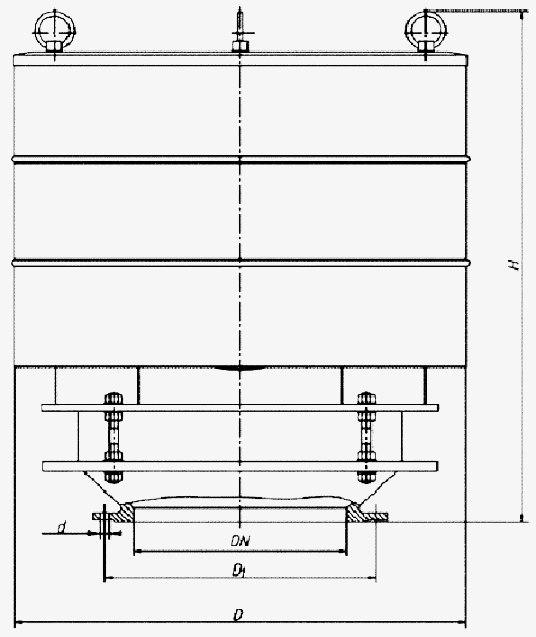 Чертеж клапана дыхательного КДС-3000К