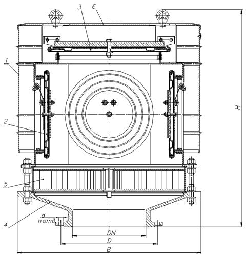 Чертеж клапана дыхательного КДС-1500К