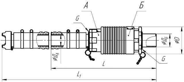 Внешний вид и габаритные размеры муфт быстрого разъема МБР2-50