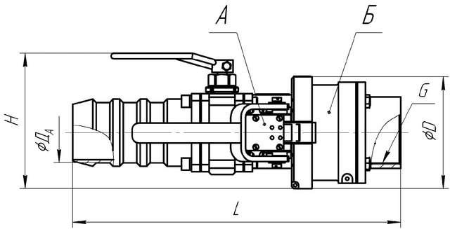 Внешний вид и габаритные размеры муфт сухого разъема МСР1-80А
