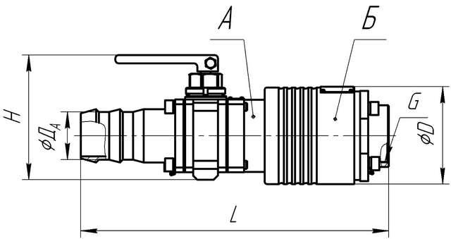 Внешний вид и габаритные размеры муфт сухого разъема МСР2-50