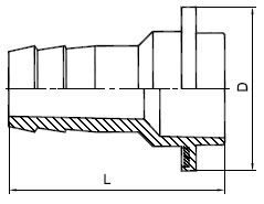 Чертеж наконечник НШ 50-75