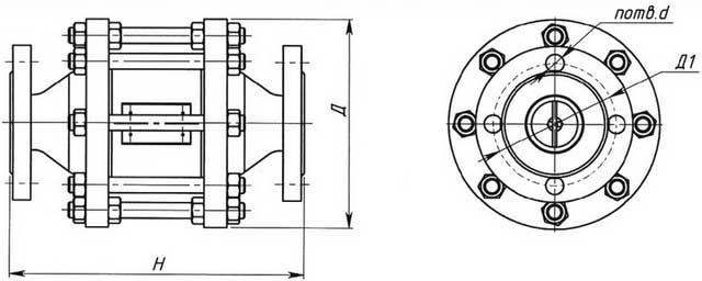 Общий вид огнепреградителей типа ОПКД1