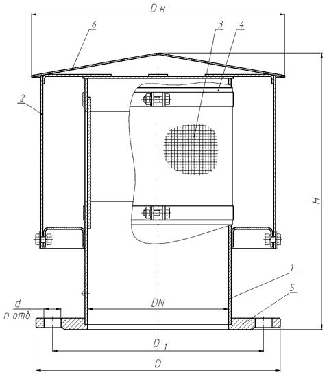 патрубок вентиляционный ПВ
