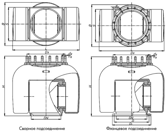 Конструктивное исполнение шарниров стальных поворотных ШСп