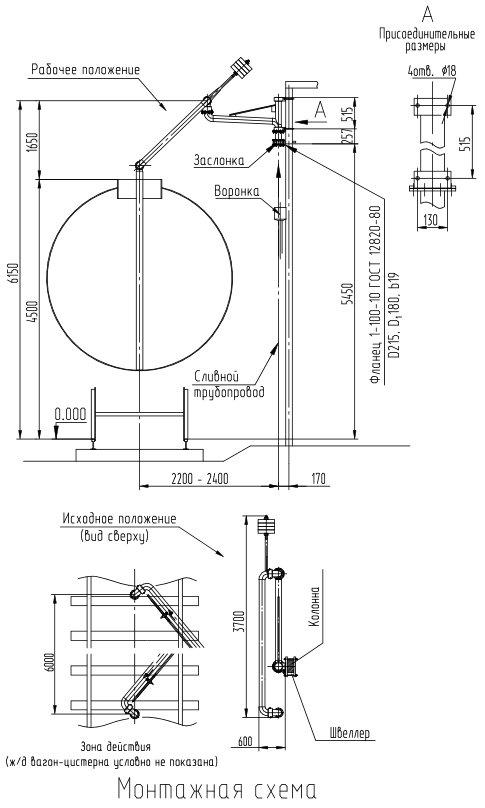 Монтажная схема устройства УНЖ6-100С