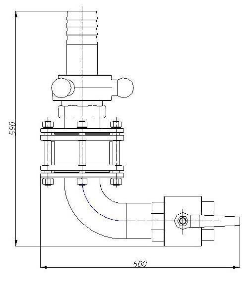 Чертеж устройство сливное УС-80А