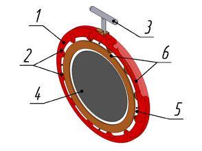 Общий вид мембраны разрывной (МР)
