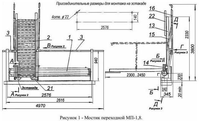 Внешний вид мостик переходной МП-1,8